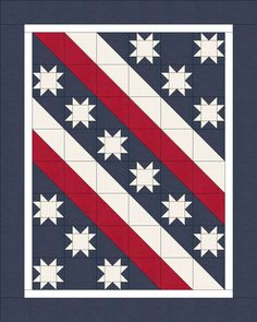 Stevens Liberty Path We have used this site for Veteran Quilts. lots of options. Star Quilt Blocks, Star Quilts, Scrappy Quilts, Denim Quilts, Patriotic Quilts, Patriotic Crafts, Blackwork, Zentangle, American Flag Quilt