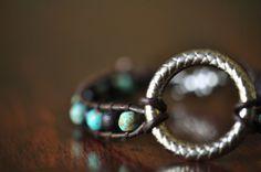Boho Bracelet Rustic Bracelet Beaded Bracelet by LaceCharming