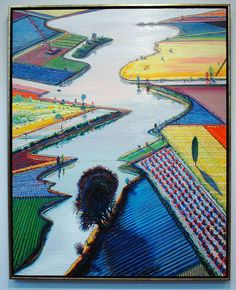 Wayne Thiebaud - Rivers and Farms - De Young Museum, San Francisco, California