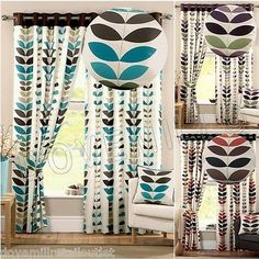 NEXT SEASONS DESIGNER EYELET RING TOP LINED CURTAINS TEAL SPICE PURPLE W46 66 90 in Home, Furniture & DIY, Curtains & Blinds, Curtains & Pelmets | eBay