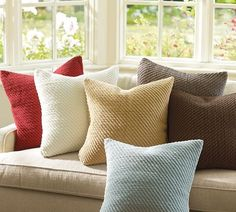 Grand Chenille Pillow Covers | Pottery Barn- love these pillow covers, so soft:)