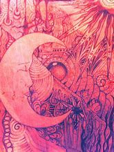 Image result for Hippie Art Sun and Moon