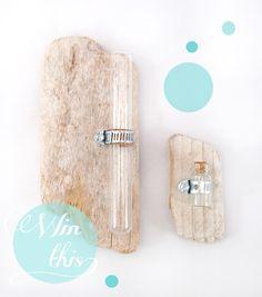 driftwood test tube wall vase
