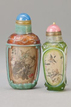 Two Snuff Bottles, China, 20th C. : Lot 5416