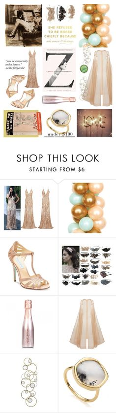 """""""Slipped Briskly"""" by hellamela ❤ liked on Polyvore featuring Betsey Johnson, Alex Perry and Monica Vinader"""