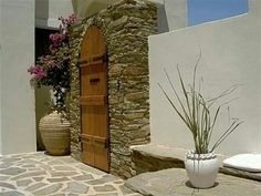 Cycladic style on Andros island, Cyclades, Greece Entrance Ways, Country Estate, Greek Islands, My Dream Home, Outdoor Spaces, Property For Sale, Greece, Arch, Real Estate