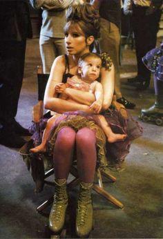 Mama Streisand with baby Jason. (via stargayzing.com)