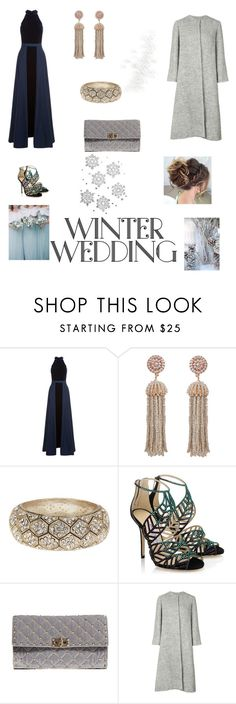 """""""Winter wedding guest velvet gown"""" by adeane on Polyvore featuring Jovani, Humble Chic, Natasha Accessories, Jimmy Choo, Valentino and Emilia Wickstead"""