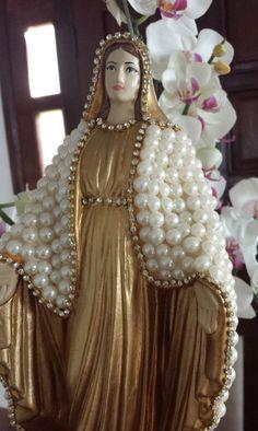 Nossa Senhora das Graças pérolas 30 cm