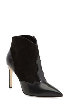 Sam Edelman 'Bradley' Suede & Leather Pointy Toe Boot (Women) available at #Nordstrom