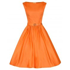 Uk12/Us M - Lindy Bop Orange Audrey Dress