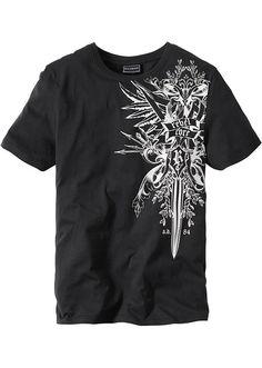 """T-shirt """"Slim fit"""" Zdobiony nadrukiem o • 27.99 zł • Bon prix"""