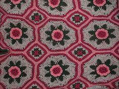 Ravelry: Blanket of Roses Afghan pattern by Bernat Design Studio.. Free pattern!
