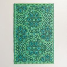 Green Blue Nomad Tiles Rio Indoor-Outdoor Mat from Cost Plus World Market. Saved to Apartment