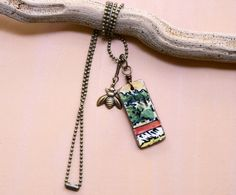 Bumblebees love Italy!  Little Bit of Italy Ceramic Tile Necklace with by bonnieline, $37.00