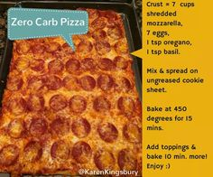 No Carb Pizza: I want to try with more herbs/spices in the crust to make it more unique, and vegetarian toppings of course ;)