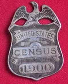 ID badge carried by Census takers, 1900    #ancestry #genealogy #Census #1900