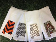 Alabama state raggy applique kitchen towels. $12.00, via Etsy.