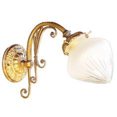 Jugendstil-Wandleuchte mit Tropfenglas KLEIN PARIS WL II von Art Nouveau Lamps