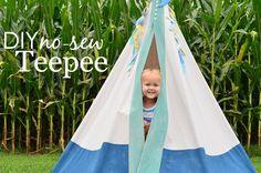 DIY No Sew Teepee -