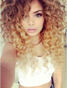 ombre on curly hair