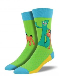 6 Pair Gumby with Flowers Ankle Socks New Never Worn Size 6-8 1//2 Value Pack