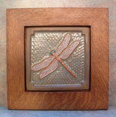 """Decorative Ceramic Art Nouveau Carmel  /'C/'  Tile 4/""""x4/"""""""