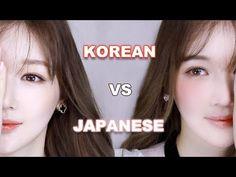 [CC Eng, Jap] Korean makeup vs. Japanese makeup 한국인 vs. 일본인 메이크업(feat.앞머리 같이 잘라요) I Daiya다이야黛雅 - YouTube