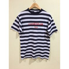 Rare Vintage Guess Jeans USA Stripes T-shirt Guess Asap Rocky Navy...  ( 246) ❤ liked on Polyvore featuring jewelry 4da75db7e783f