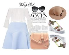 """""""Vintage Girl"""" by sunflower-hainguyen on Polyvore featuring ZALORA and vintage"""