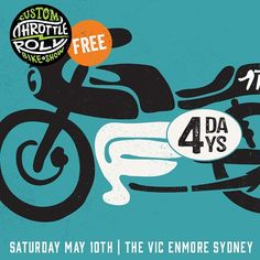 4 days till launch off. Who is coming down? #throttleroll #caferacer #bobber #custom #classic #sydney #Padgram