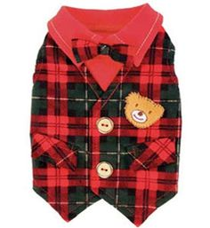 Image detail for -... Dog Clothes My Little Teddy Vest Holiday Designer Pet Clothes