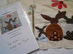 """Supergoof Quilts: """"Allemaal kleine konijntjes op tafel,..."""""""