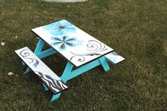 Children's picnic table hand made and painted by If Walls Could Talk, Faux Finishing