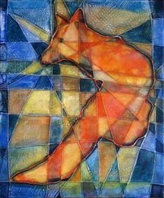 "Saatchi Art Artist Lubomir Korenko; Painting, ""Saving the fox"" #art"