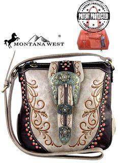 Montana West~Belt Buckle~Messenger Bag~Western~Embroidery~Conceal Handgun~Purse #MontanaWest #MessengerCrossBodyShoulderBag