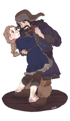 """ssilcatt:  Prompt by Dear Anon Number 3 who said: """"fem!Bilbo/Bofur? Because nothing in Middle Earth could be cuter."""" this made me sQUEAL OH ..."""