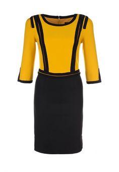 Платье Waggon Paris женское. Цвет: желтый, черный. Сезон: Весна-лето 2013. С бесплатной доставкой и примеркой на Lamoda. http://j.mp/1nU7Nfs