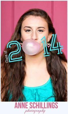 Bubblegum Senior Photo by Anne Schillings Photography