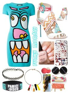 """""""Funky Monday"""" by pinkstars6 ❤ liked on Polyvore featuring Jeremy Scott, Kate Spade, Emily & Ashley, Marc Jacobs, Eos, creative and onlymekara"""