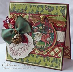 Beautiful card by @Gloria Stengel from our May Arts blog hop! She makes fantastic cards. #cards #graphic45 #mayarts