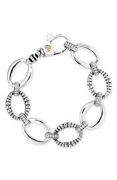 Lagos 'Link' Sterling Silver Oval Link Bracelet available at #Nordstrom