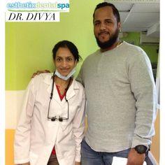 Dr. Divya and her happy patient! #esthtixdentalspa #dentistNYC #smile #dentistry