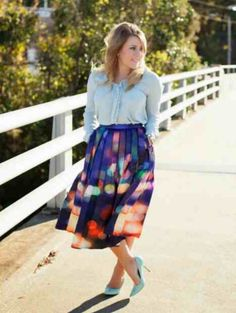 """Pleated """"City Lights"""" Midi Skirt, a-line, pleated, zipper closure.   Medium (0/2) Waist:26' Large (4/6) Waist:28' X-Large (8/10) Waist:30' XXL (12/14) Waist:32' -LENGTH FOR ALL IS APPROX 28'  *runs small:check size options **ships in 2-3 weeks"""