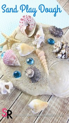 Sand Play dough makes a fun tactile project for kids who are blind during the summer months. Explore sand, shells, and more for an ideal hands-on approach to learning about the ocean!