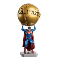 Superman carries the world on his shoulders (sort of) in this special entry in the DC Super Hero Best of figurine collection. Superman Figure, Superhero Superman, Batman, Superman Stuff, Dc Comics, Action Toys, Action Figures, Man Of Steel, My Collection