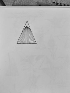 Design for minimalist back-of-the-ankle mountain tattoo :)