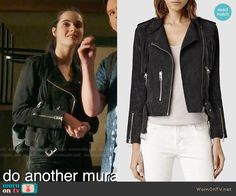 Bay's suede fringed moto jacket on Switched at Birth.  Outfit Details: https://wornontv.net/65178/ #SwitchedatBirth