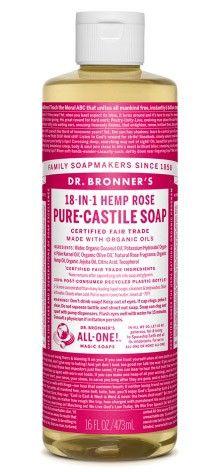 Bild på Dr Bronner Rose Liquid Soap 473 ml
