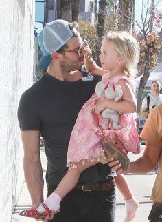 Jaime and his oldest daughter Dulcie...So cute!! LA 1/28/18